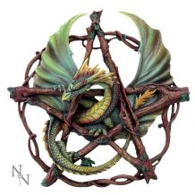 FOREST PENTAGRAM DRAGON WALL ART